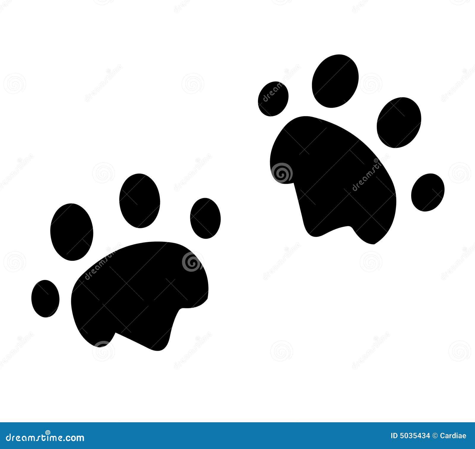 动物脚印爪子 库存图片