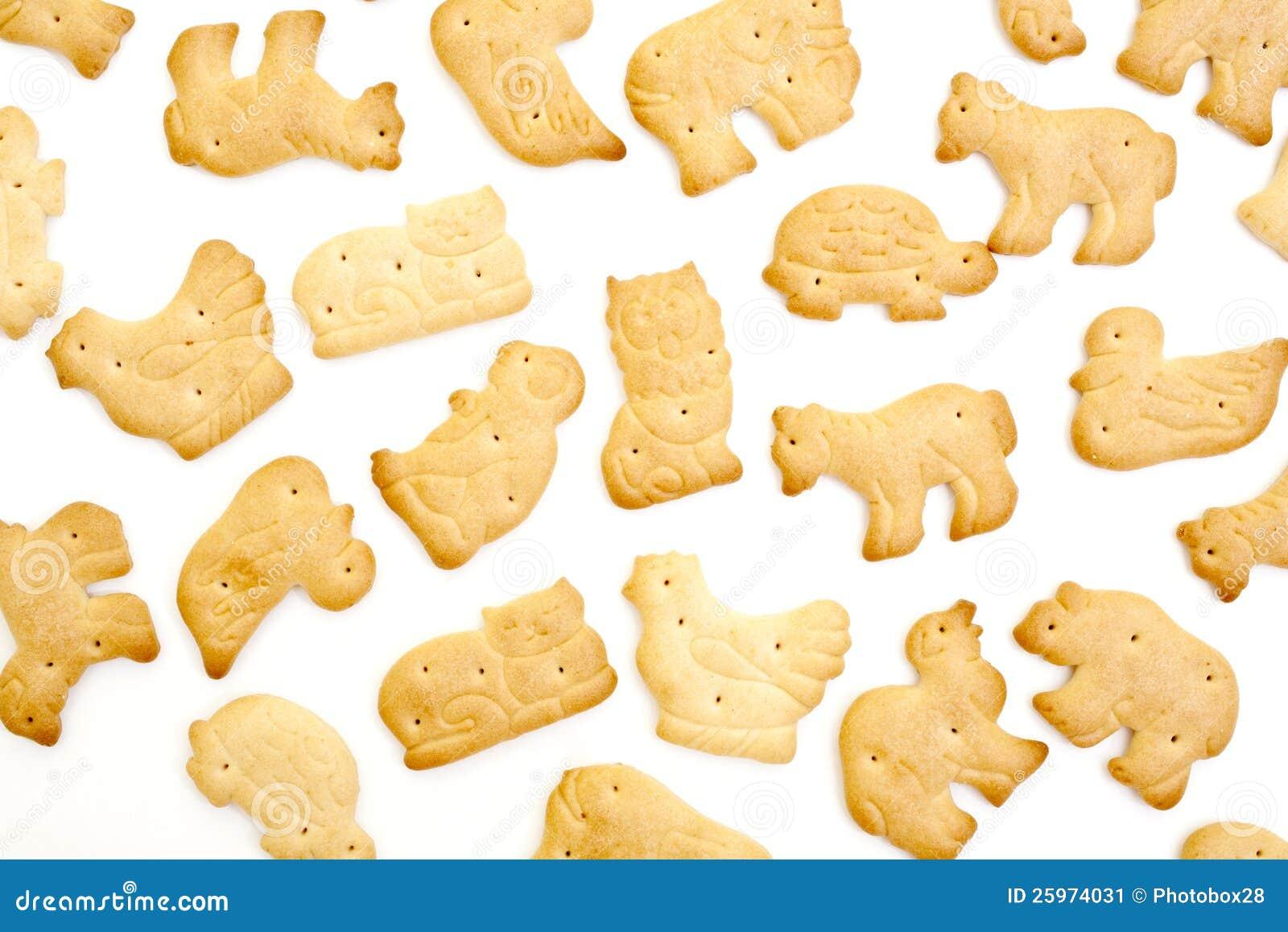 动物形状的薄脆饼干 库存图片