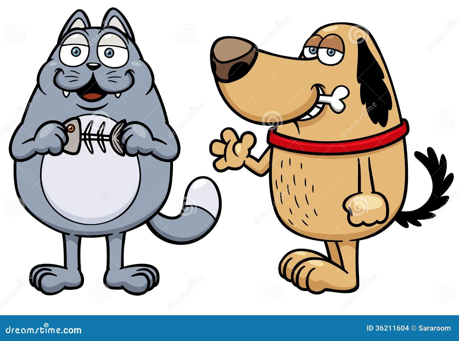 动画片猫和狗 库存图片图片