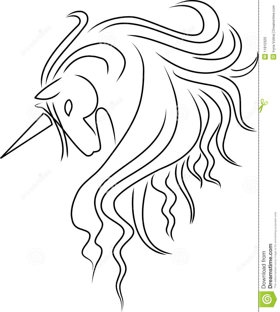 Unicorn Coloring Pages Simple