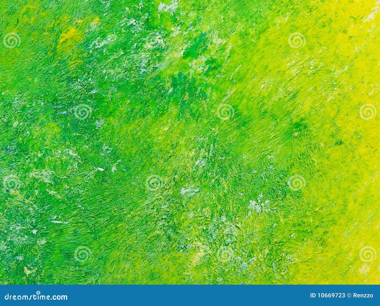 对黄色的绿色油画纹理