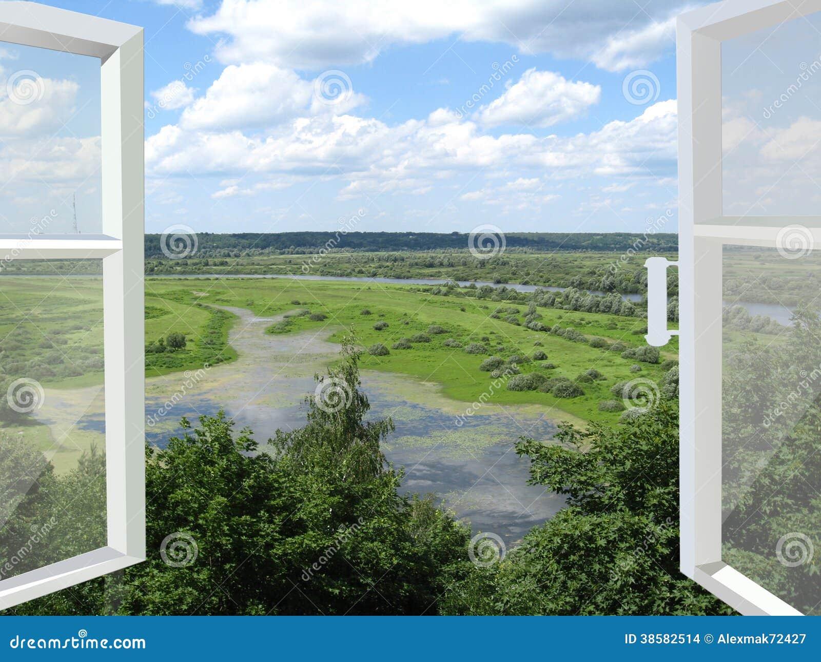520 for Fenetre ouverte sur paysage