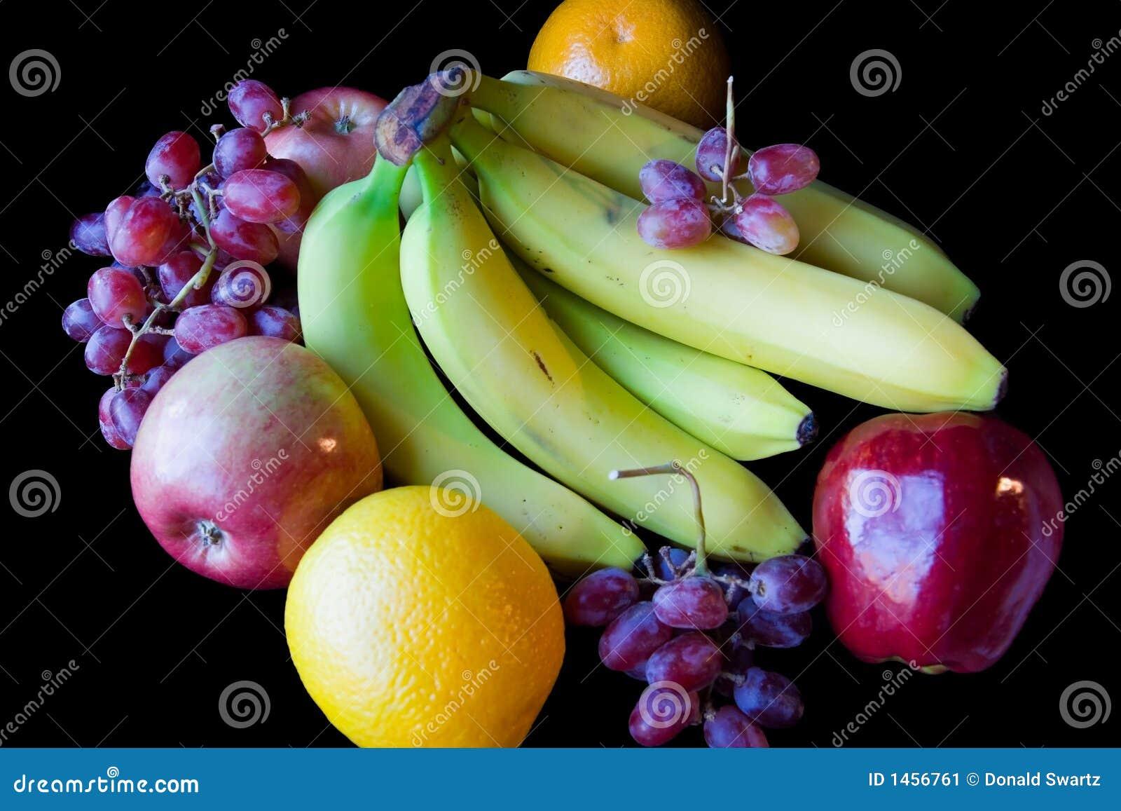 苹果香蕉葡萄智力_苹果背景 香蕉 黑色 葡萄 桔子