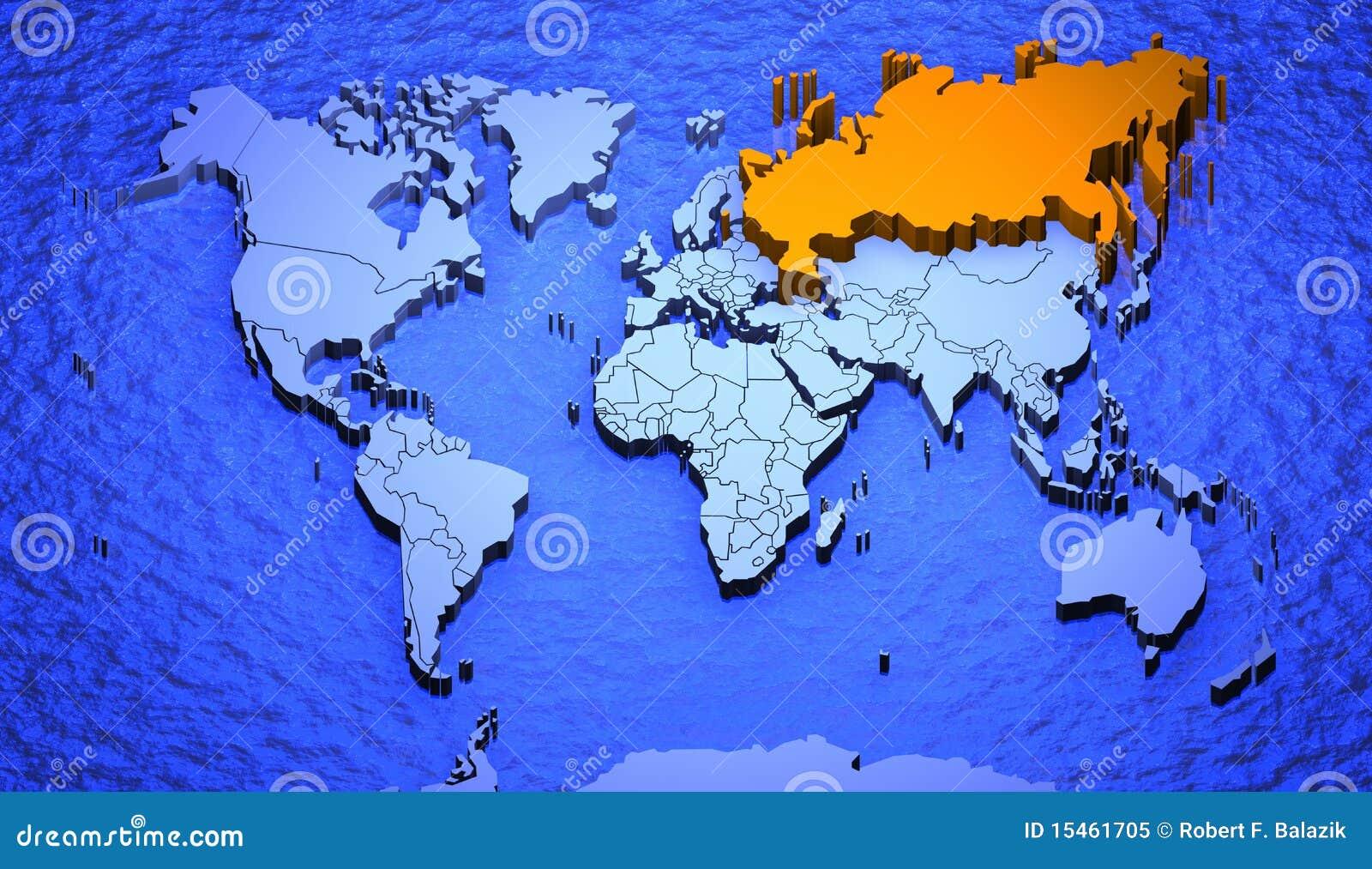 欧洲与俄罗斯地图