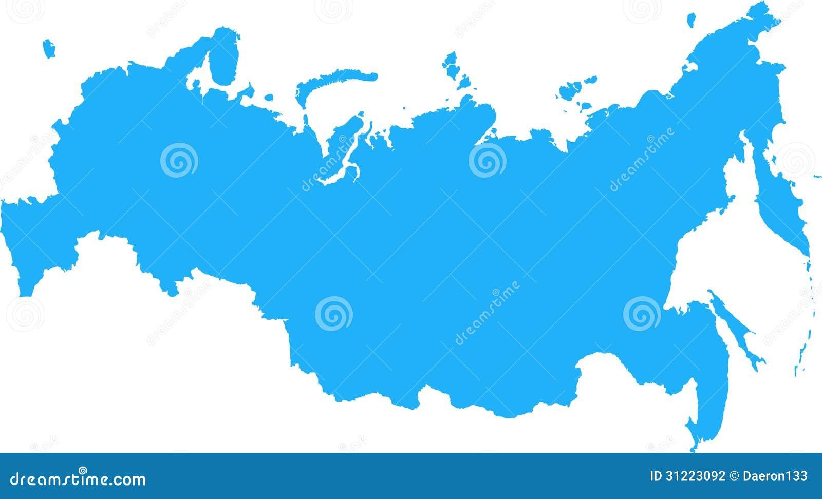 俄罗斯联邦地图 图库摄影