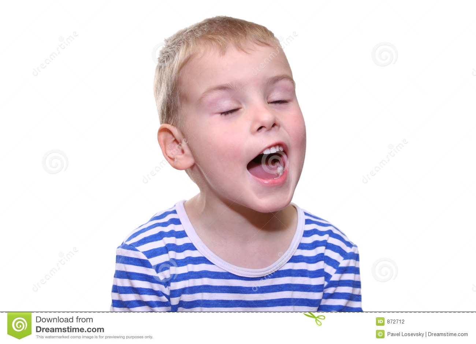 儿童唱歌 图库摄影 - 图片