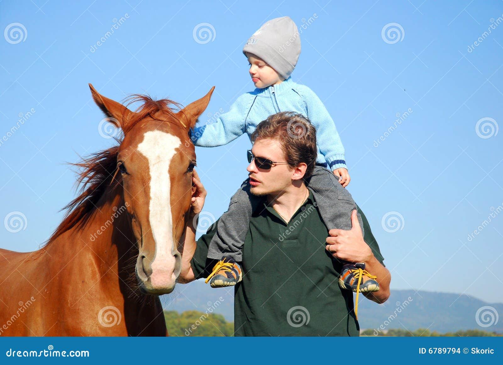 儿童马人 库存图片 - 图片