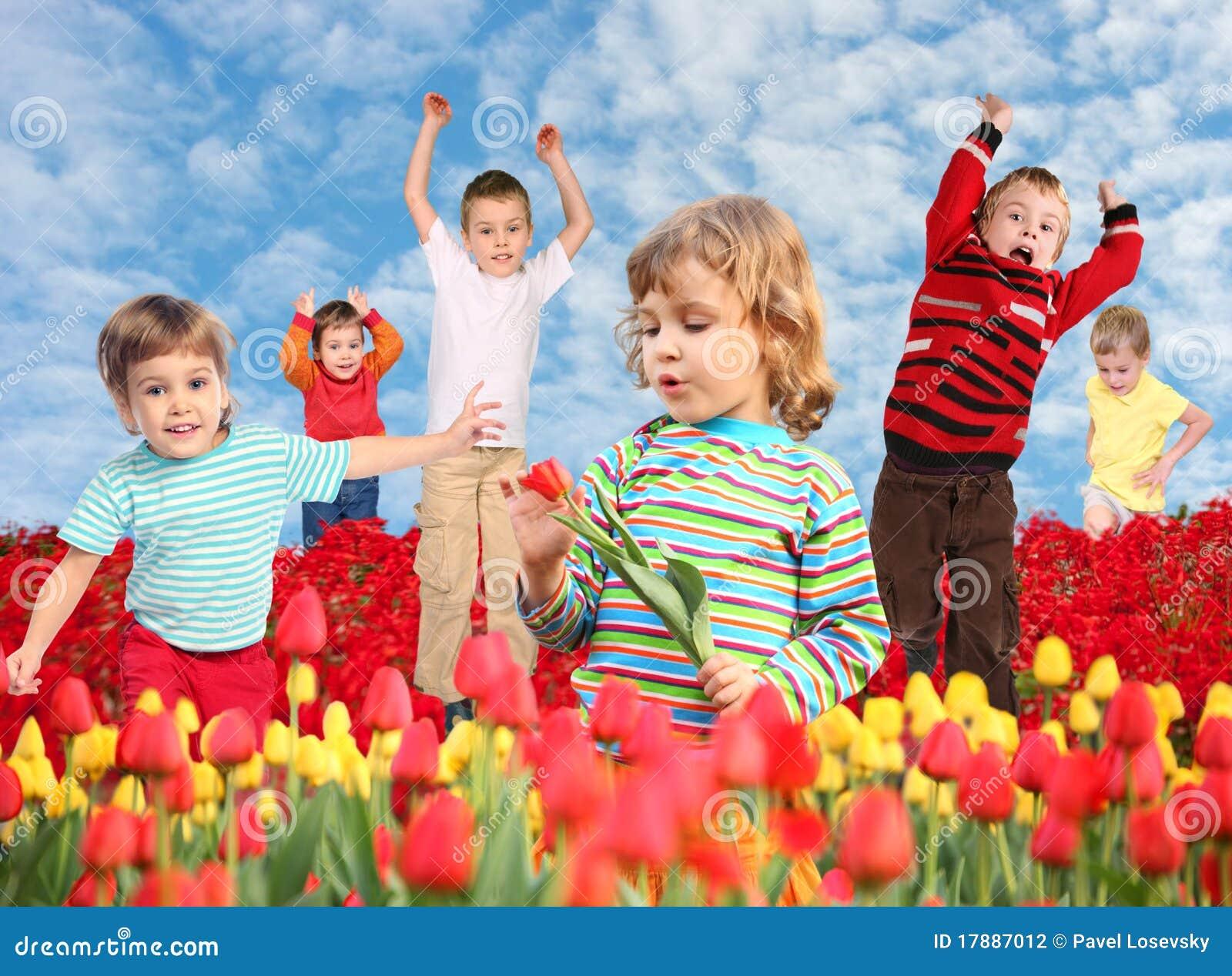 儿童拼贴画领域郁金香