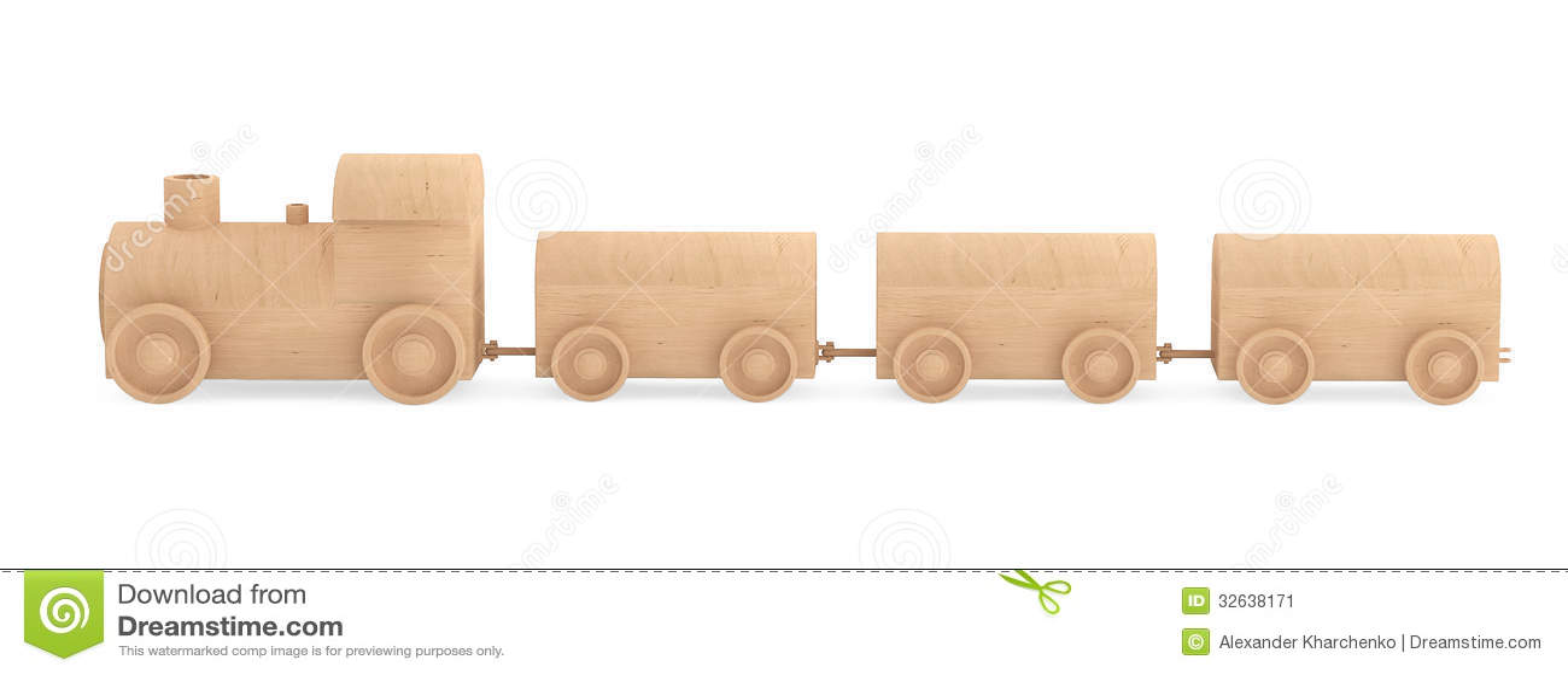 儿童玩具木火车