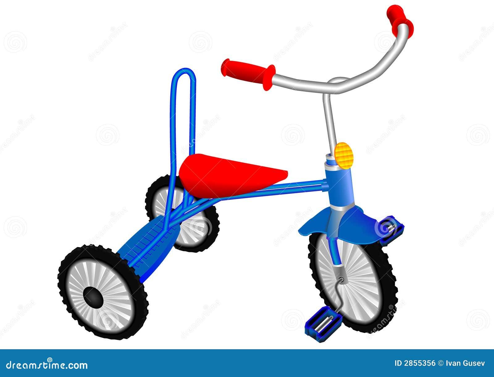 背景蓝色儿童黑暗的s三轮车白色