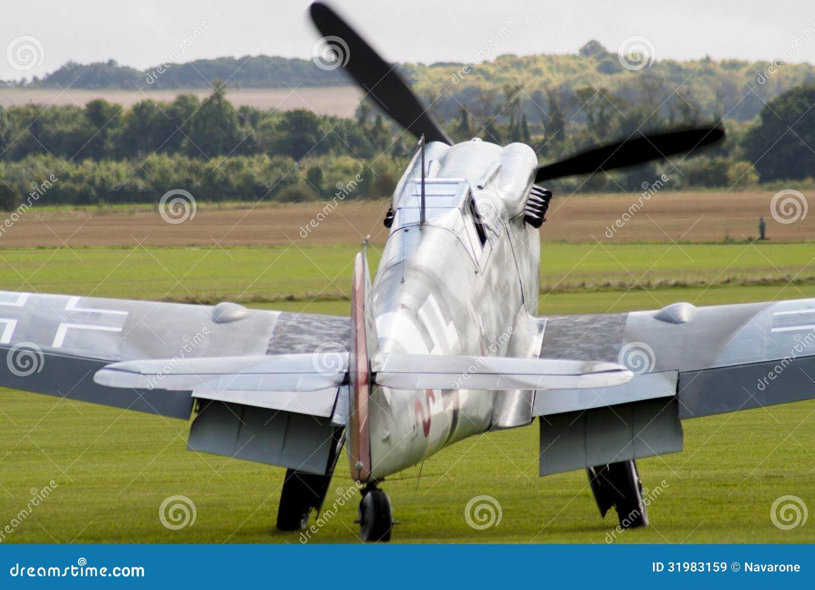 二战德国战斗机 免版税库存图片