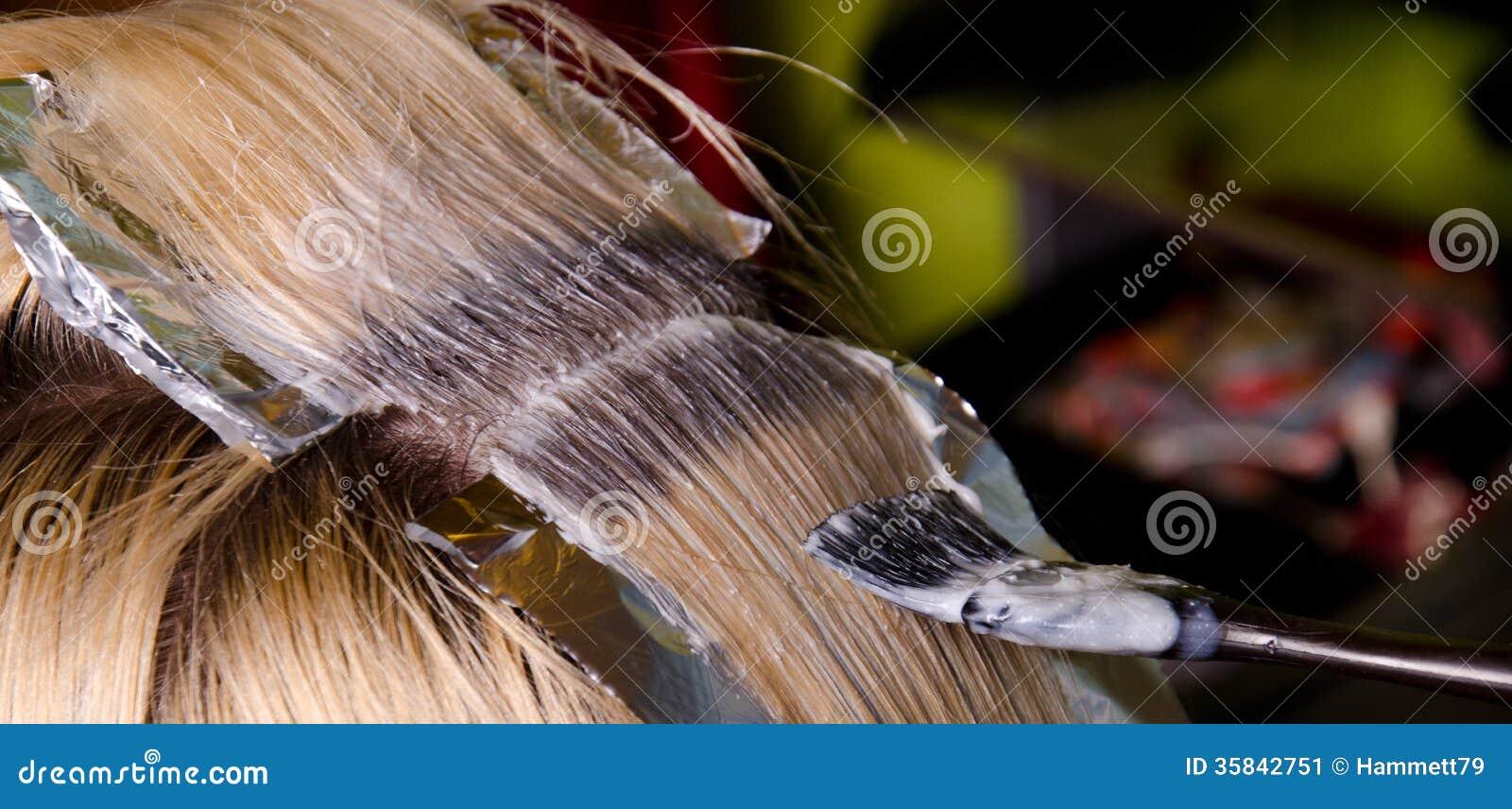 头发染色 库存图片 - 图片
