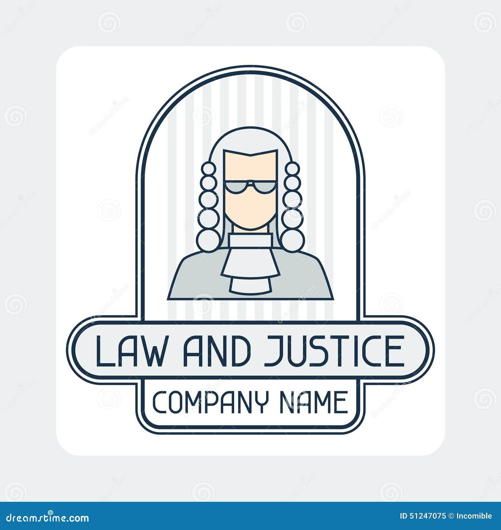 法律和正义公司名称概念象征图片