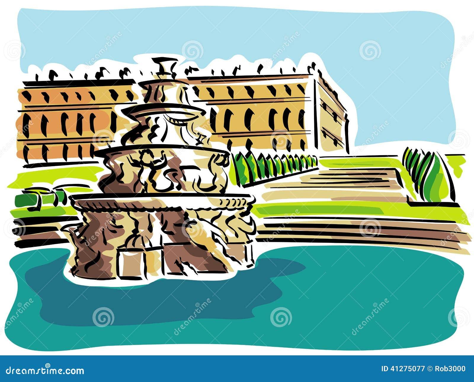 欧式宫殿卡通图片