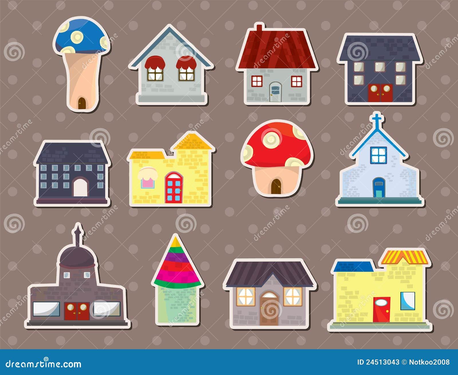 房子贴纸 库存照片 - 图片