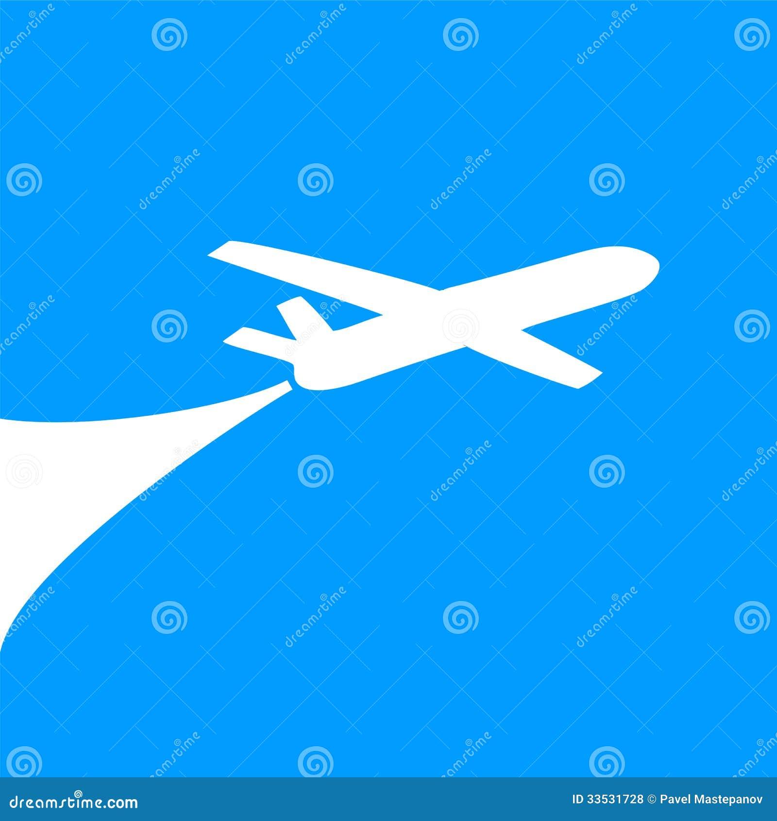 飞机标志设计 免版税库存照片