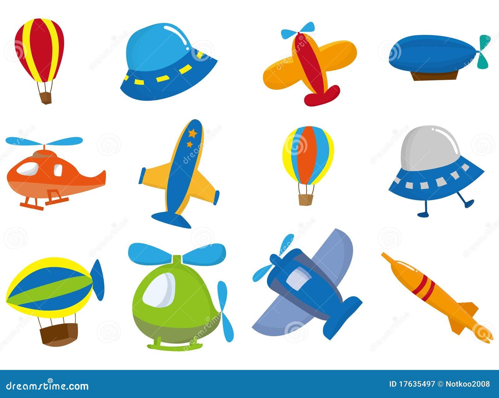 飞机动画片图标