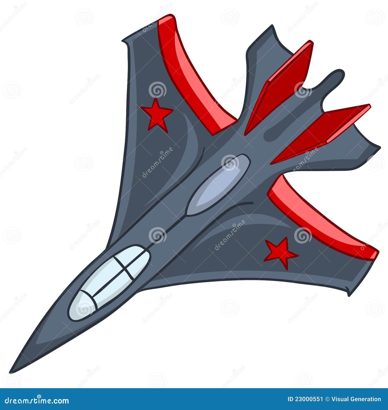 飞机动画片 库存图片