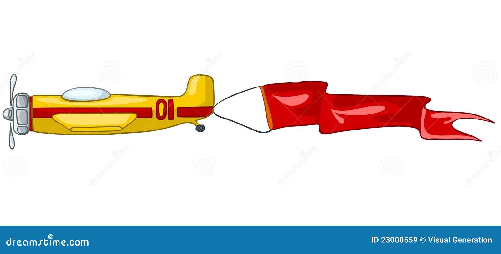 飞机动画片 免版税库存图片