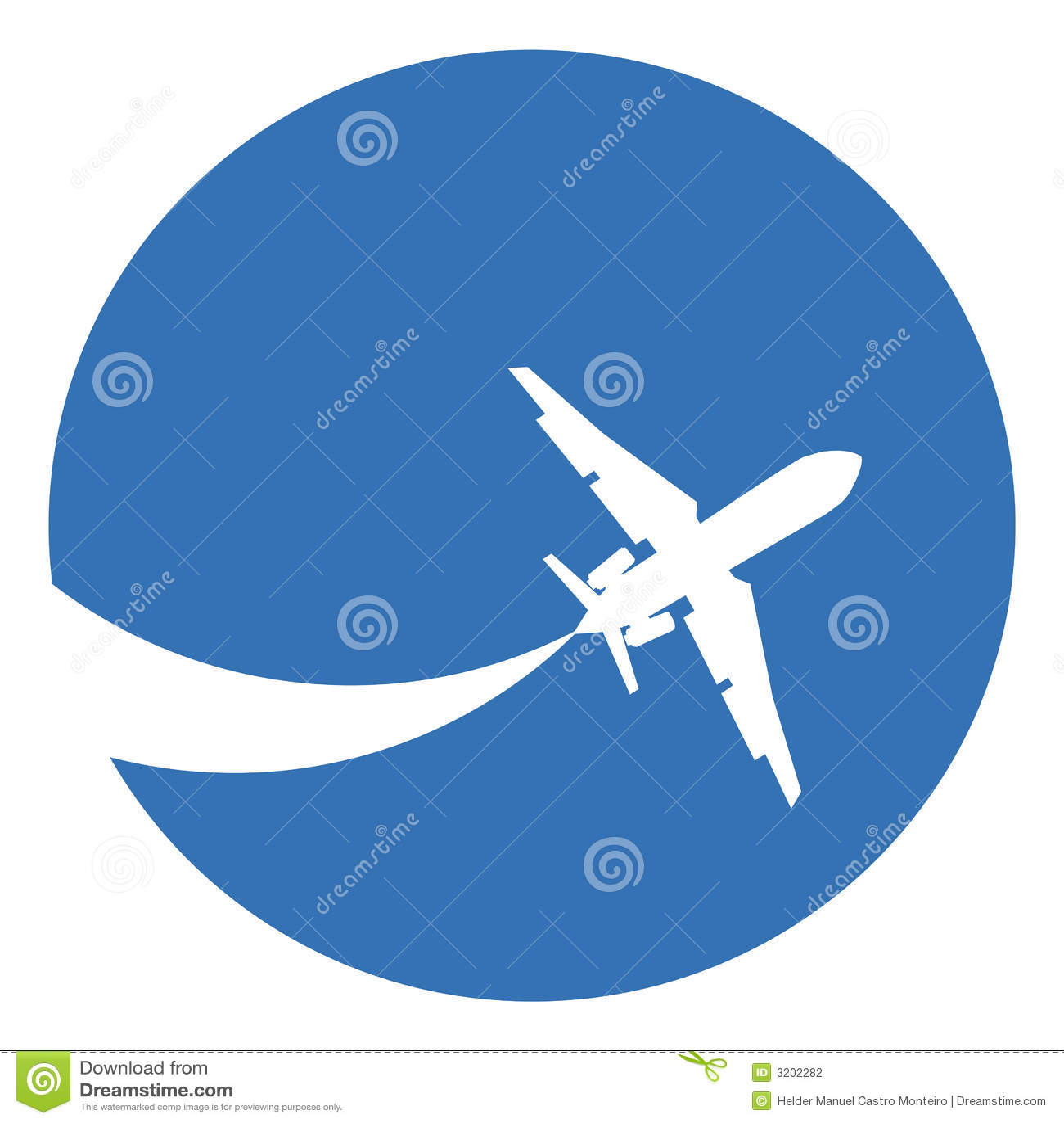 飞机背景蓝色剪影
