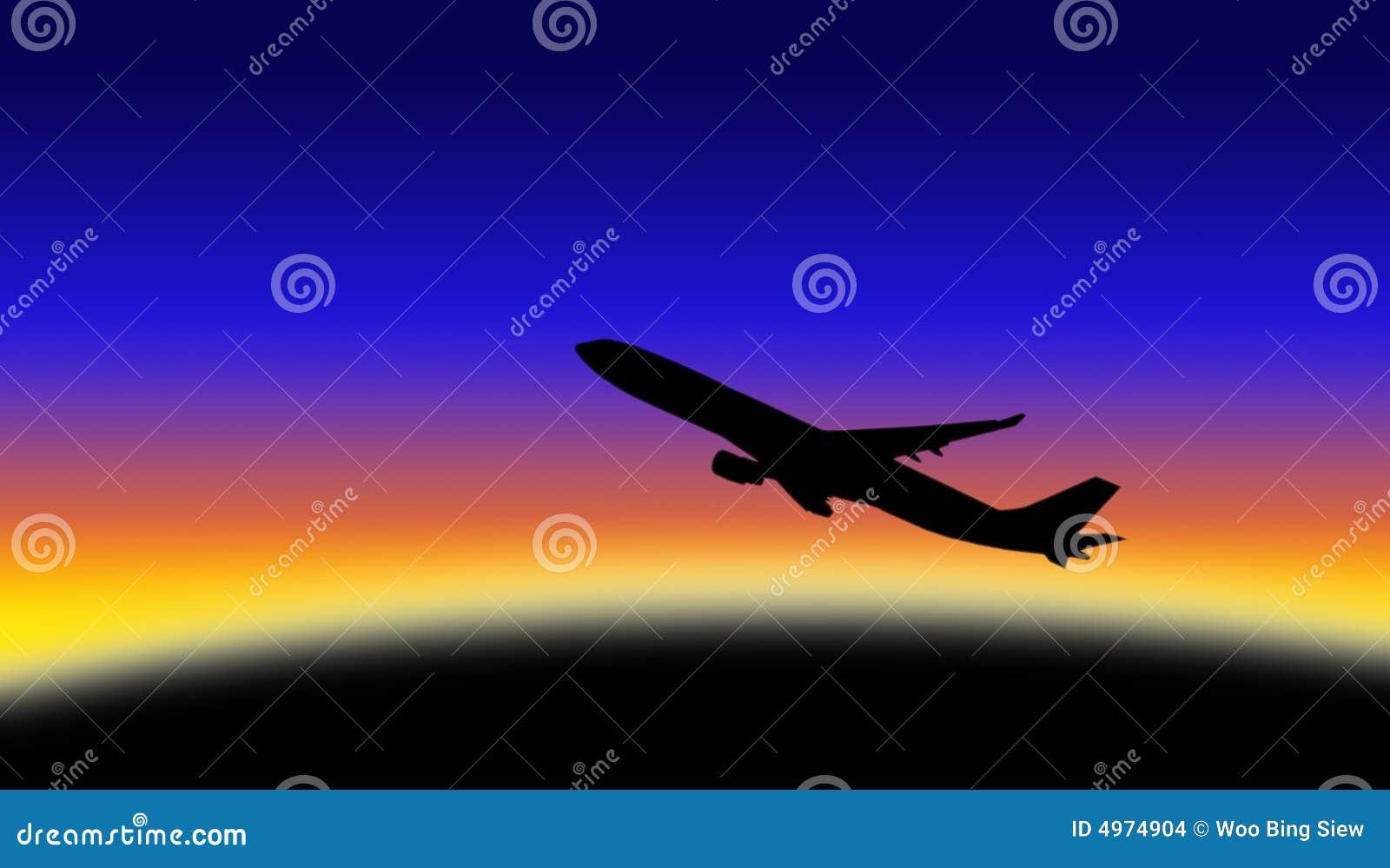 飞机剪影 库存图片 - 图片