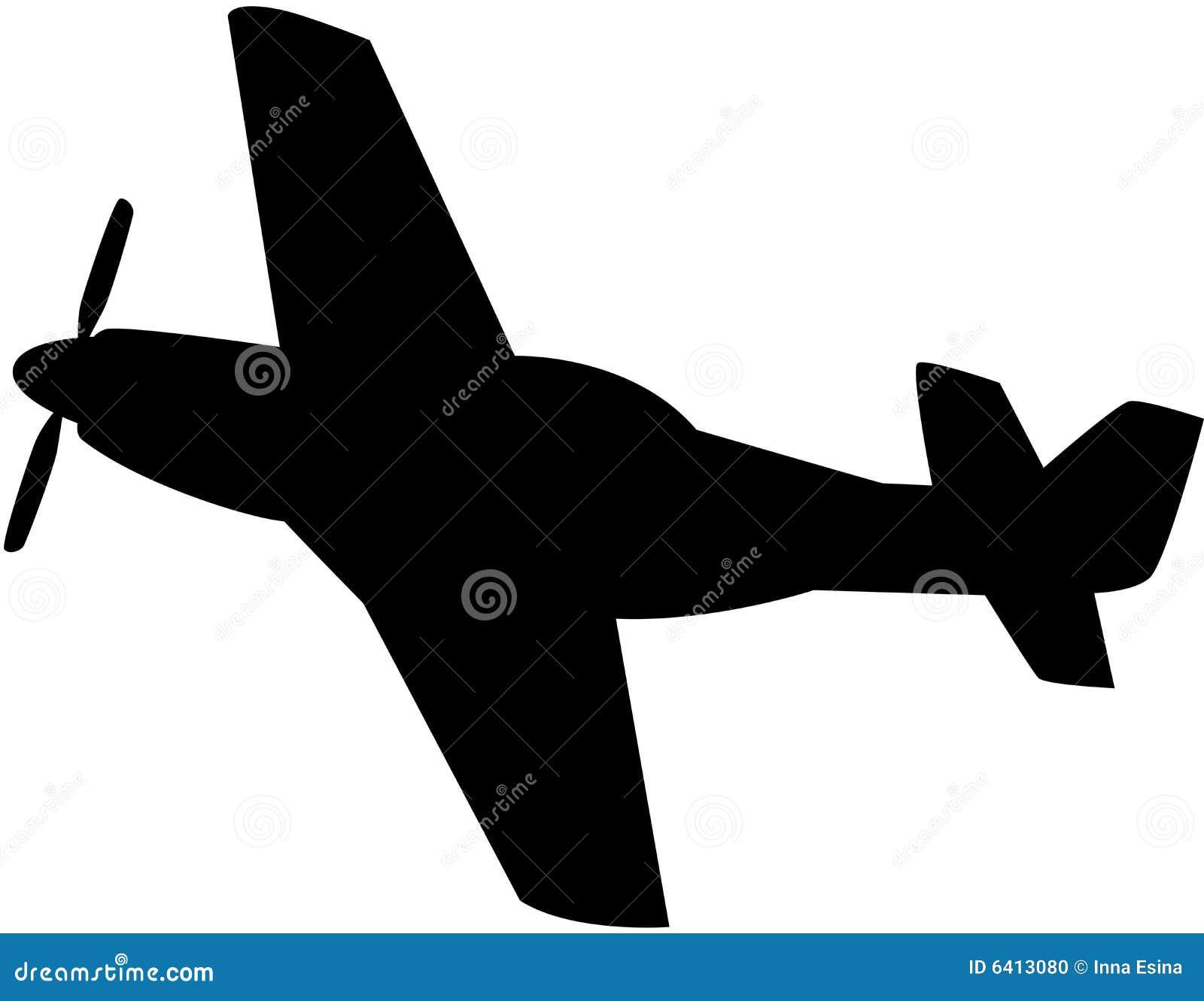 飞机剪影 库存照片 - 图片