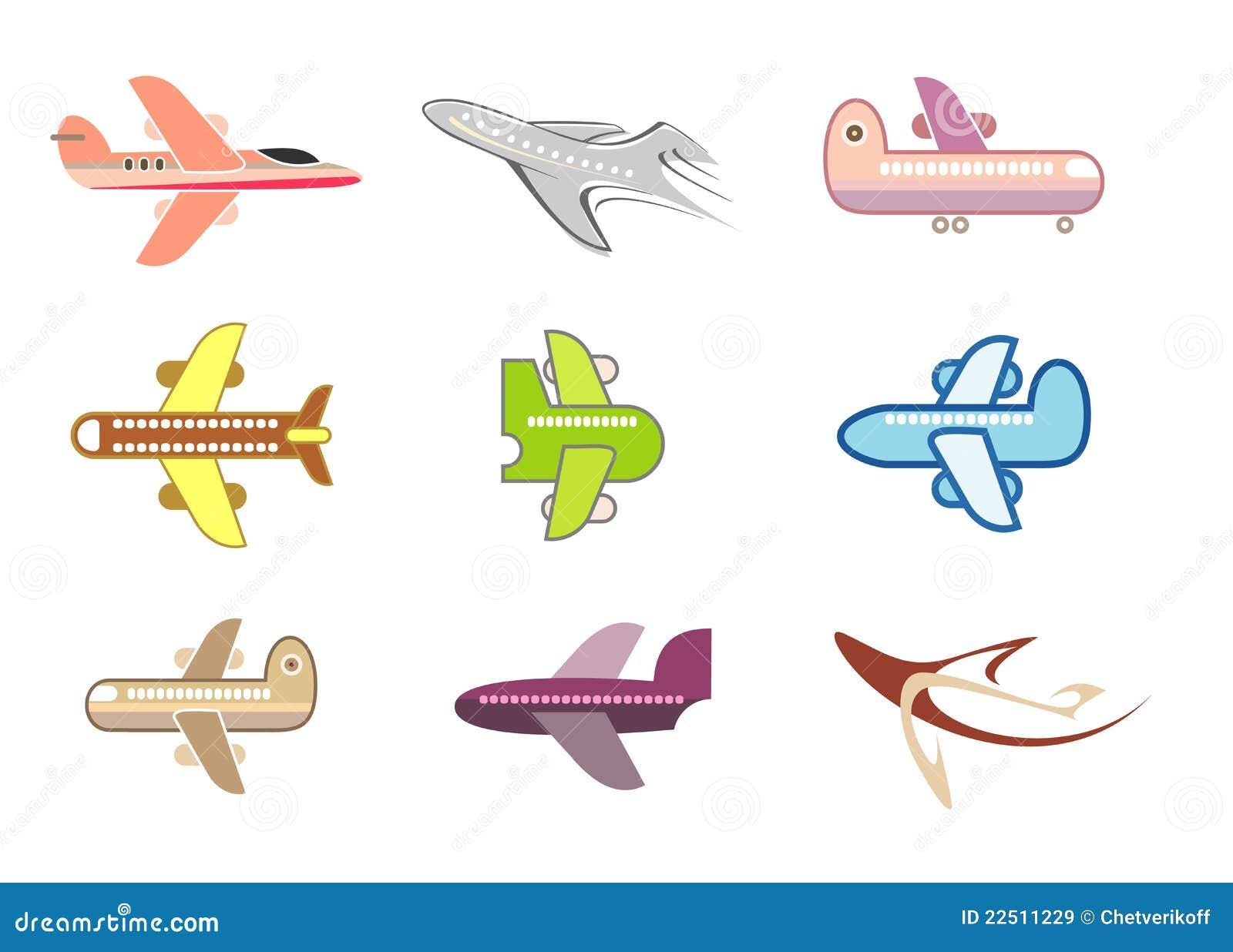 飞机图标查出的喷气机向量