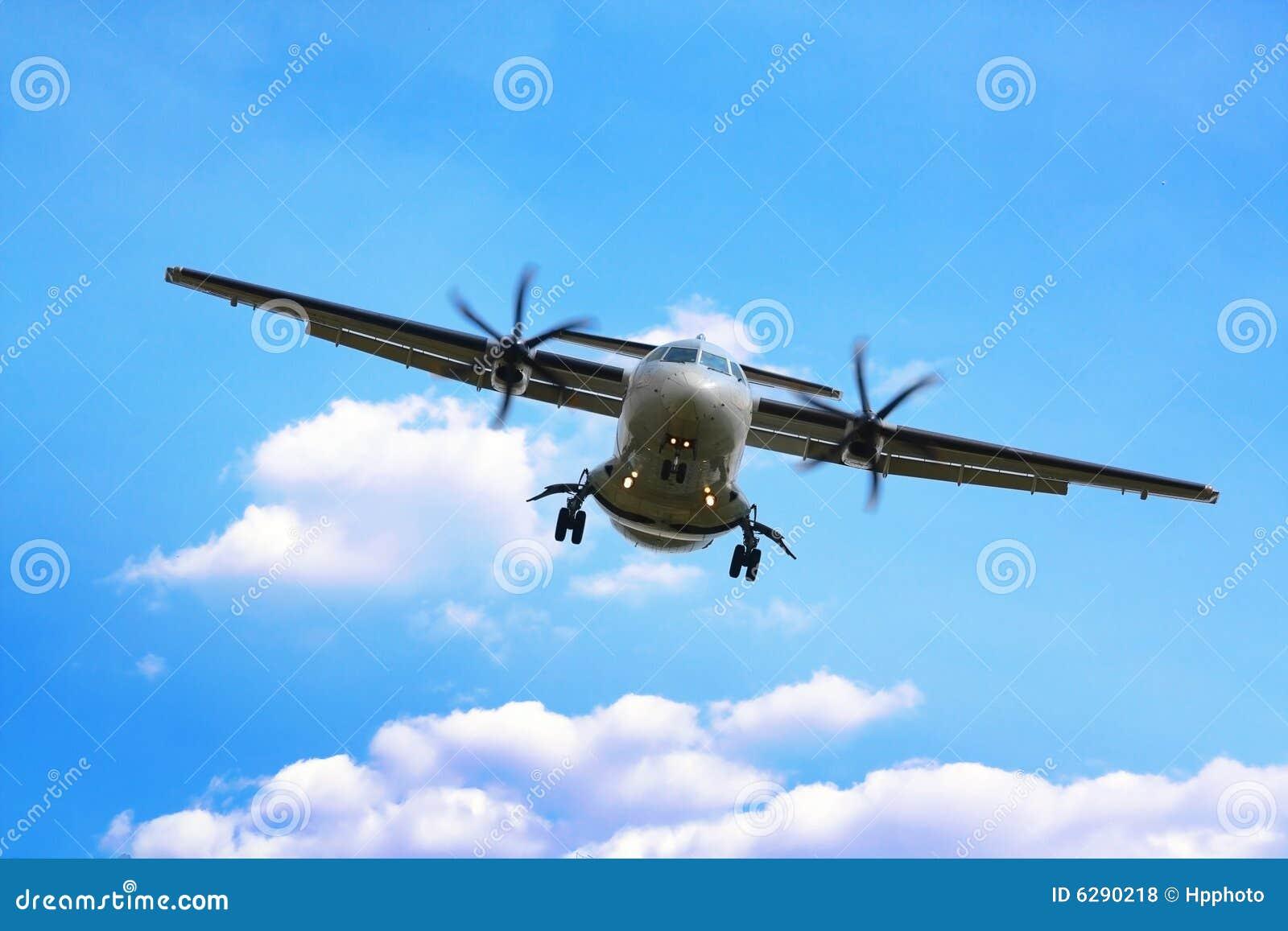 飞机着陆推进器 免版税库存照片