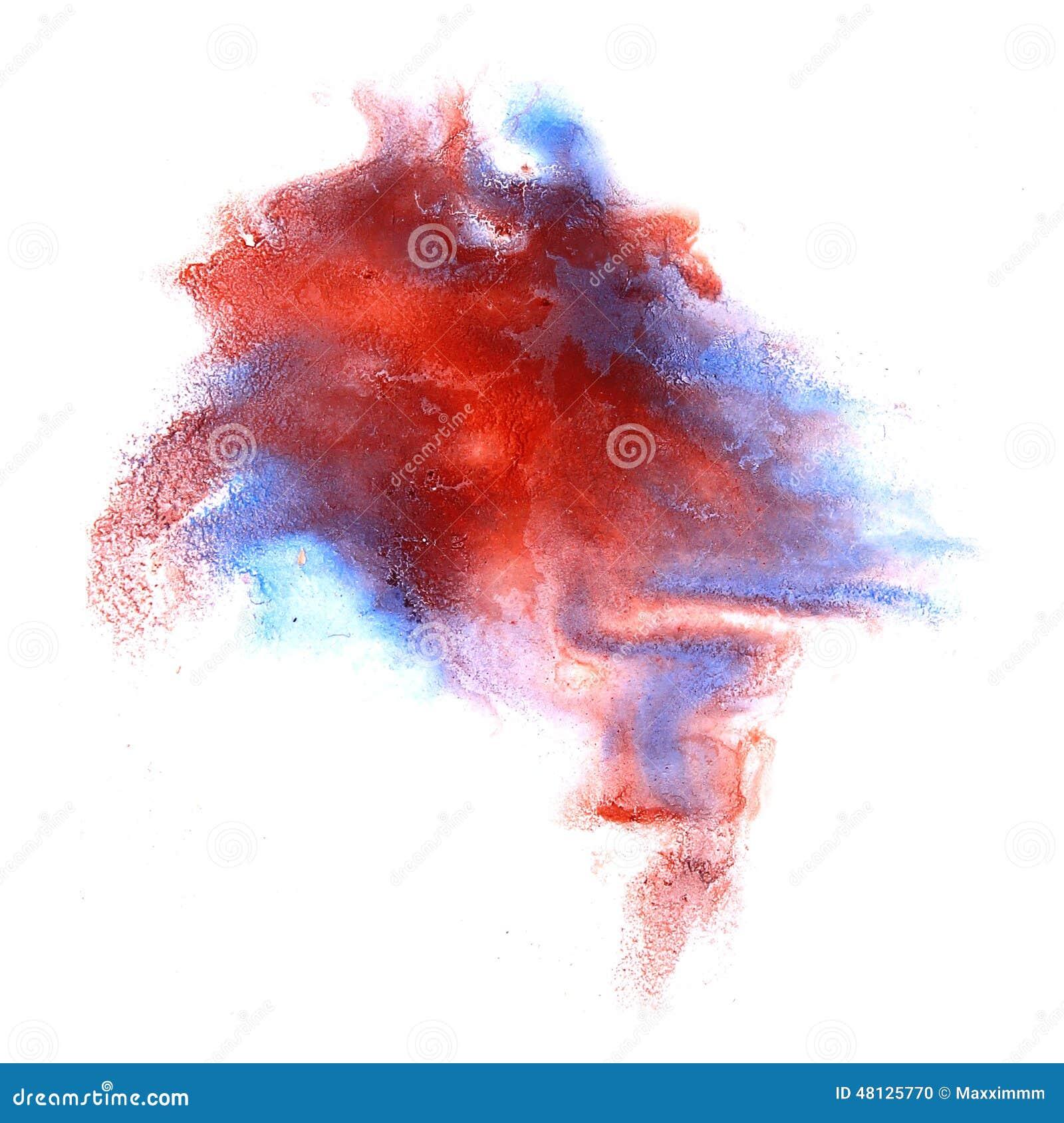 红色墨水污点水彩一滴斑点刷子图片