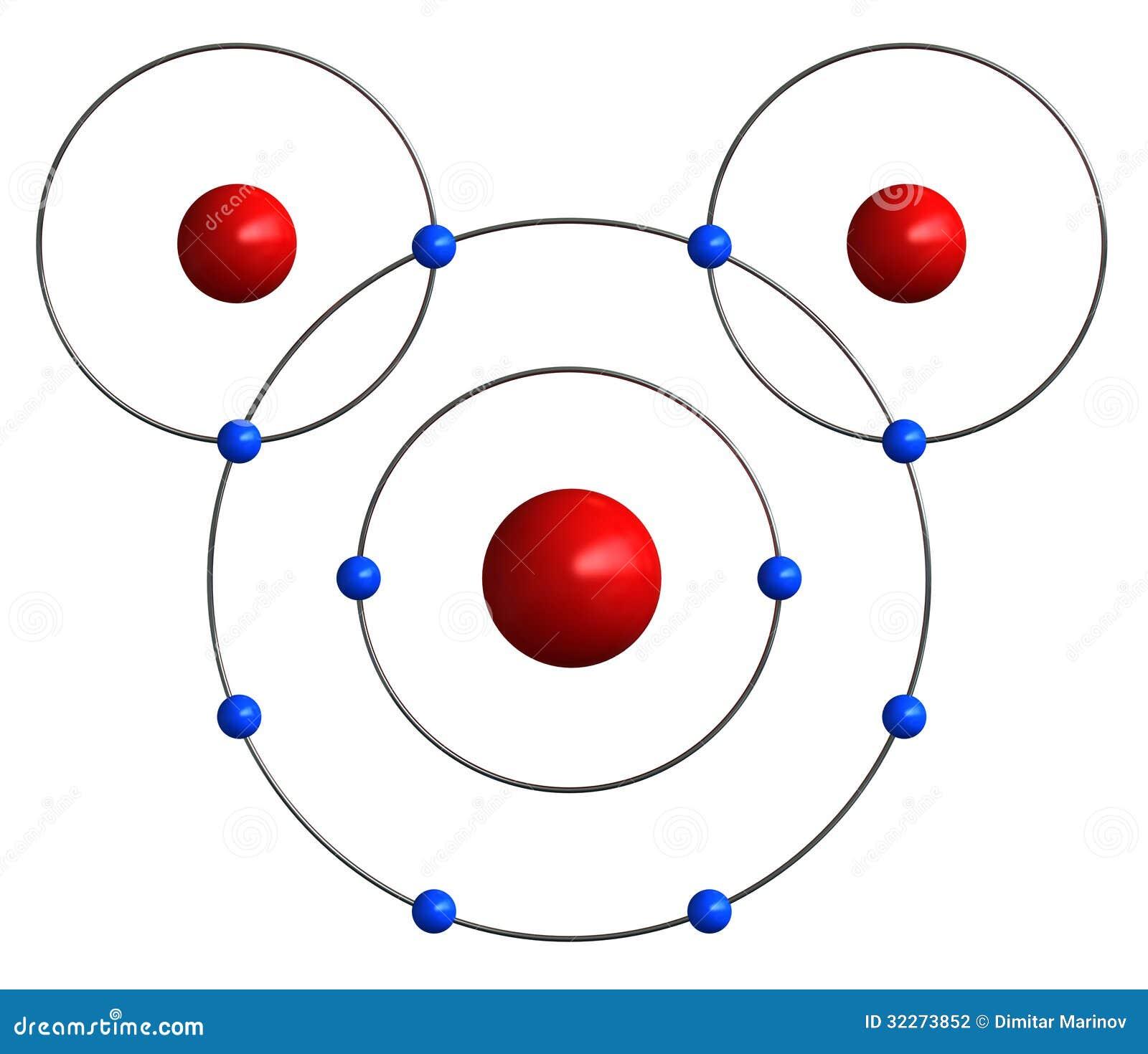 水分子结构 图库摄影