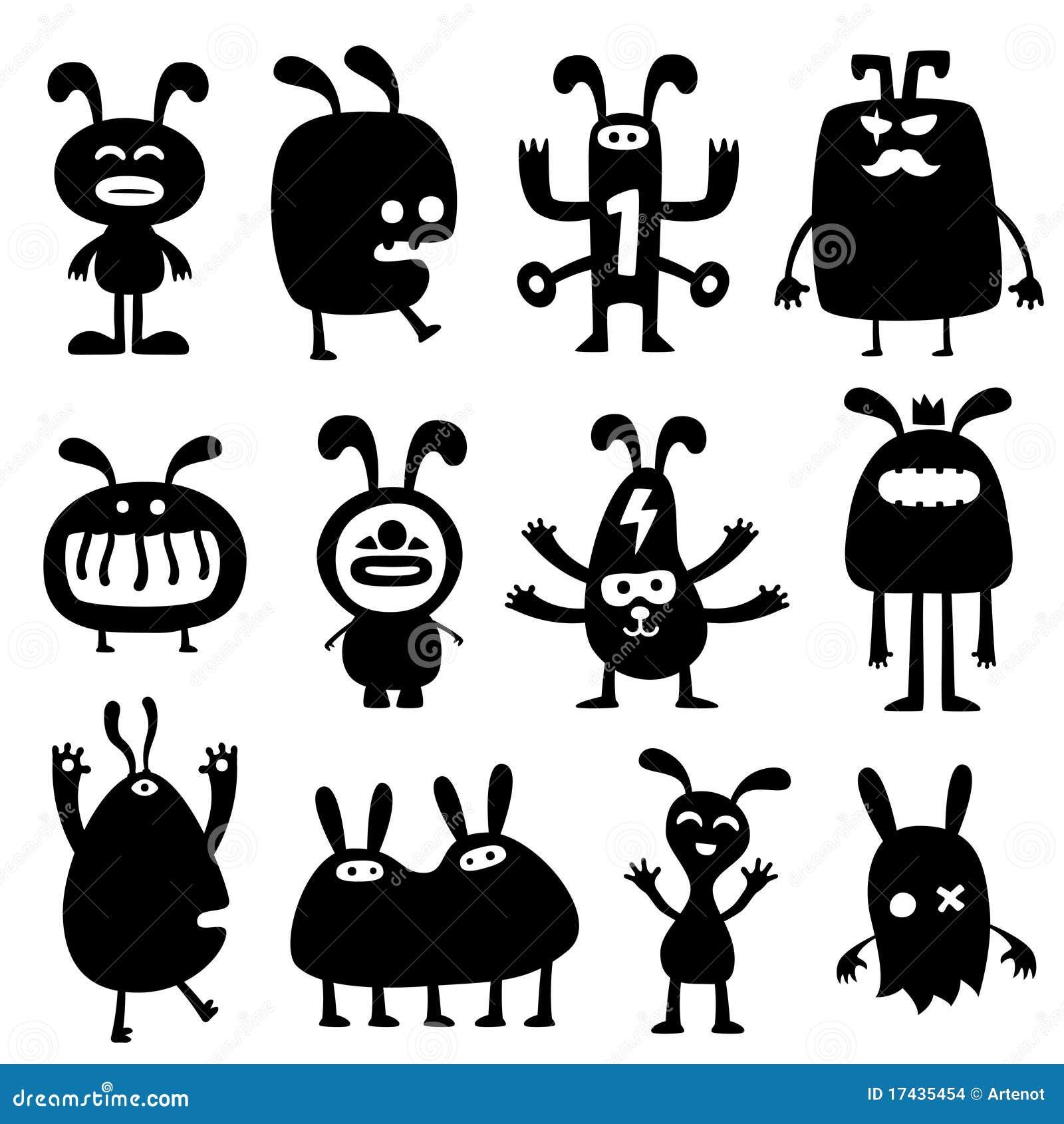 疯狂的兔子set01 库存图片