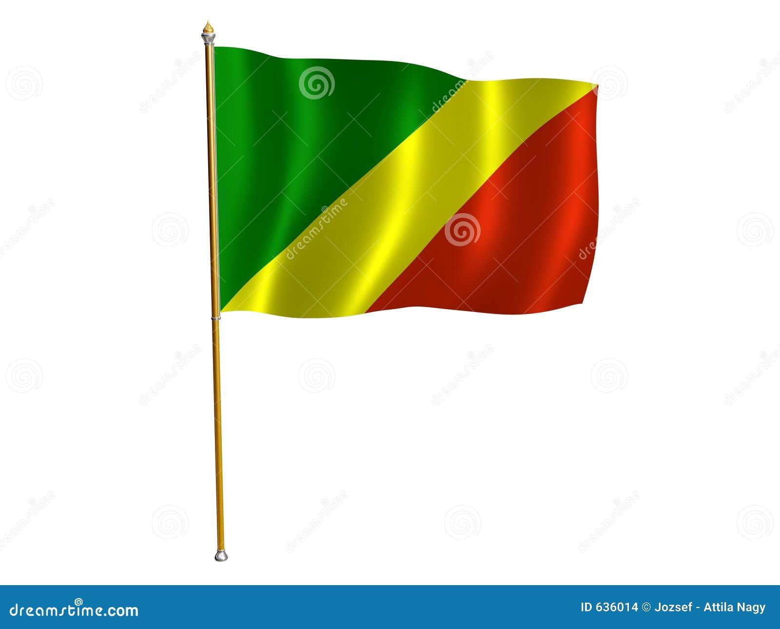 刚果标志共和国丝绸图片