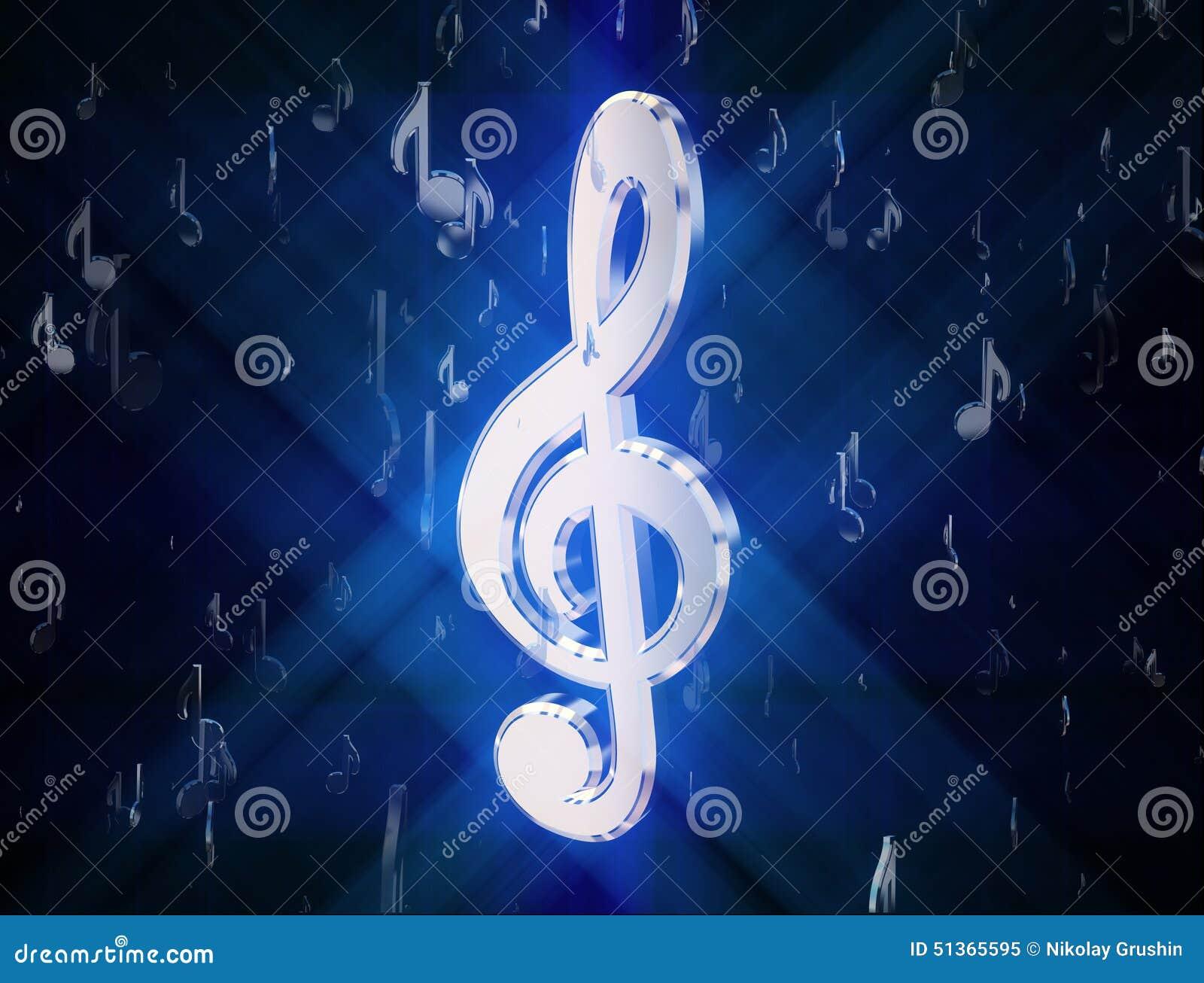 高音谱号,围拢由音乐标志