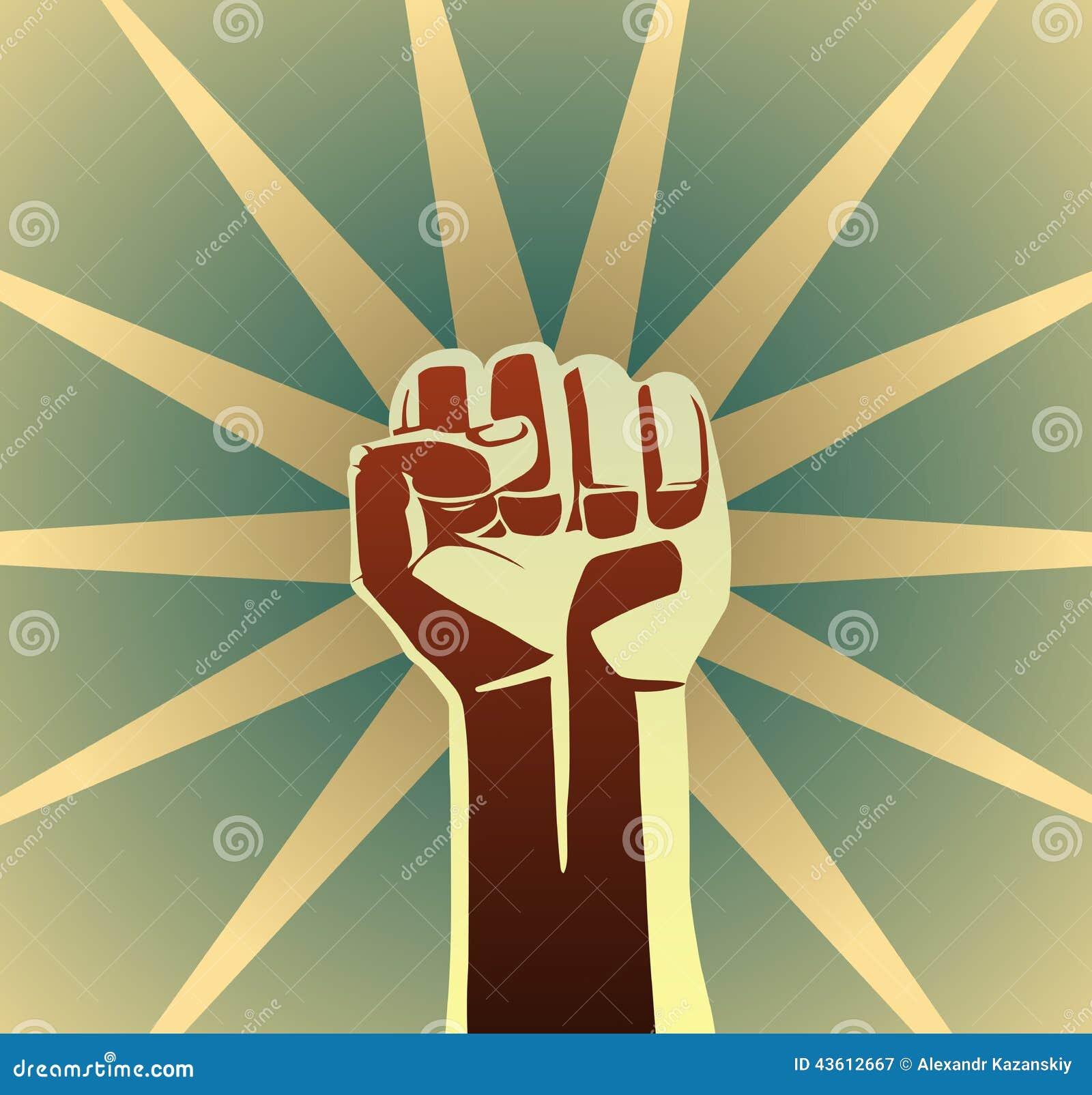 向量例证: 革命拳头