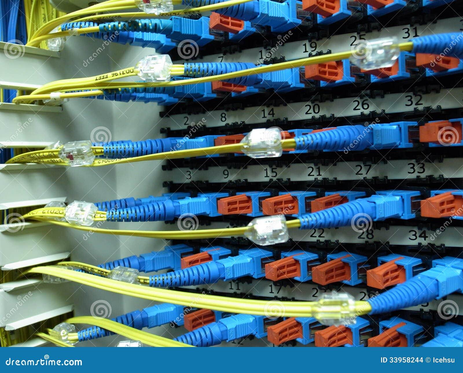 光纤接线板 库存图片
