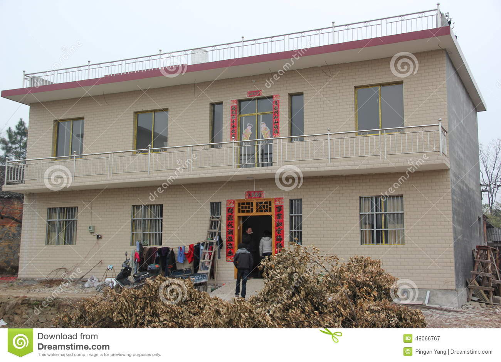 广西农村房子 图库摄影片