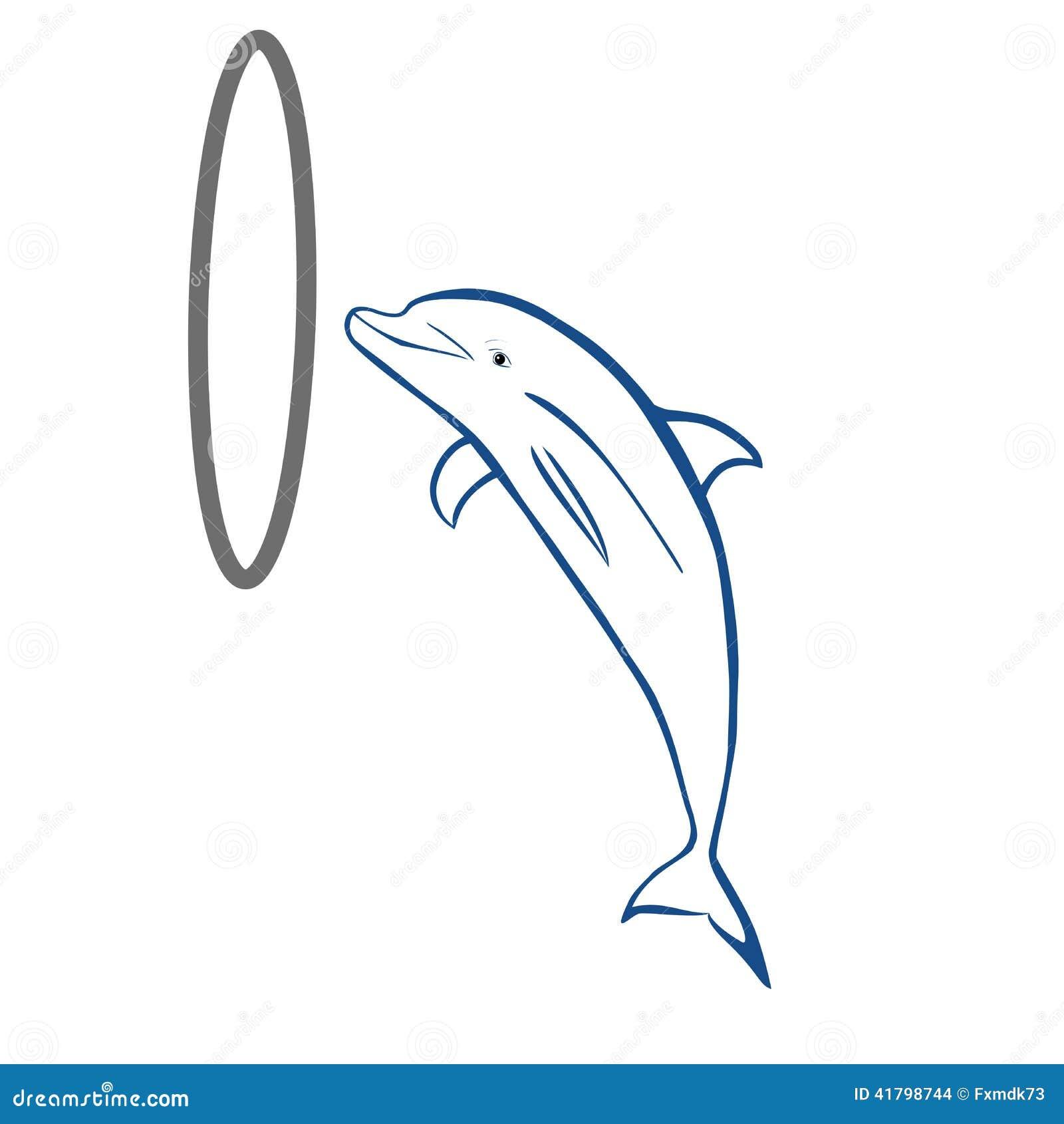 海豚手绘画简单图