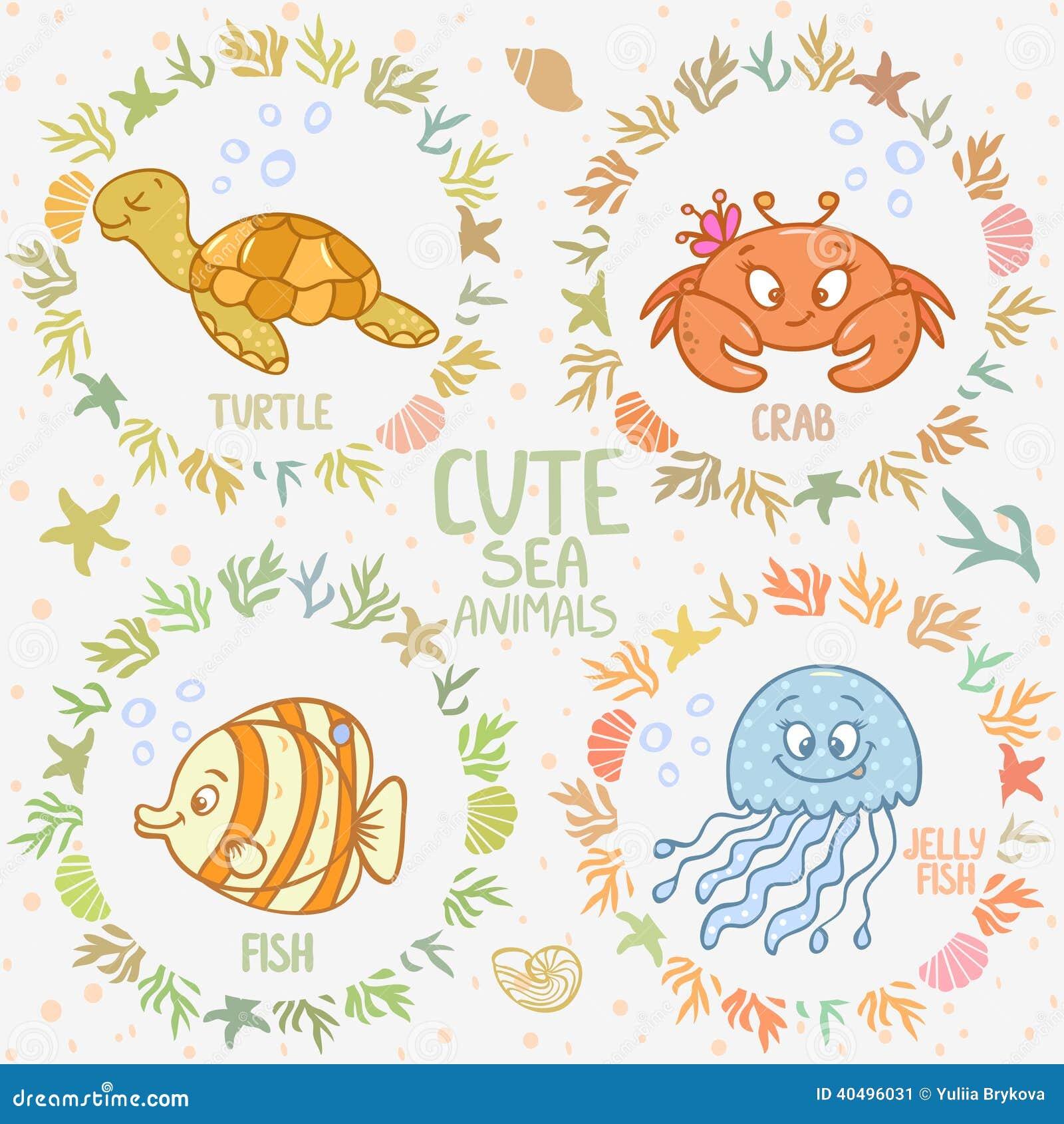 海洋动物 向量例证 - 图片