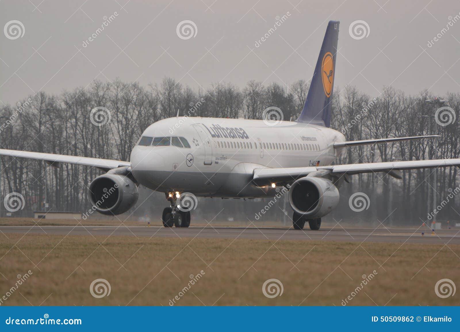 汉莎航空公司飞机 图库摄影片