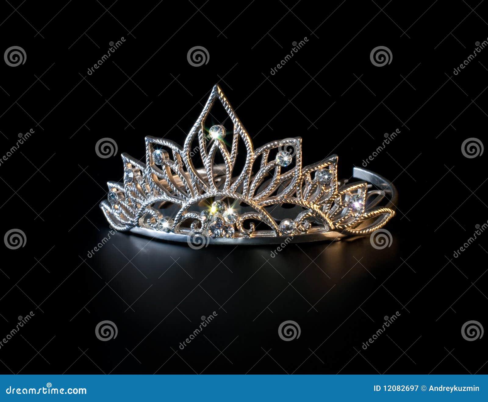 黑色五颜六色的王冠闪耀冠状头饰