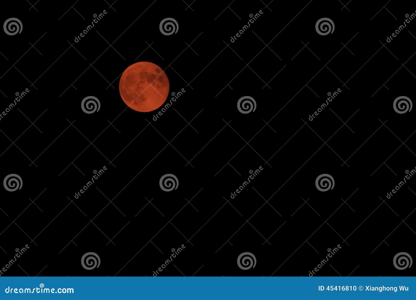 红色月亮 库存照片 - 图片