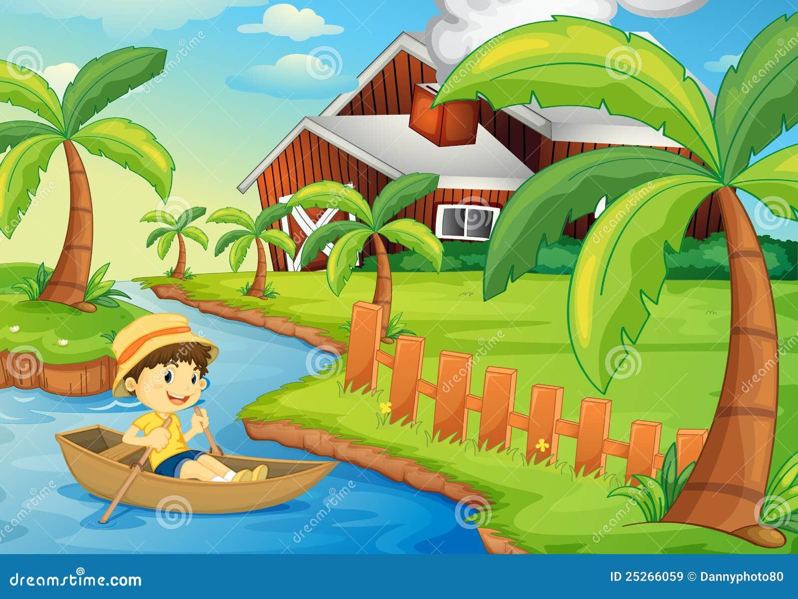 幼儿画画小船图片