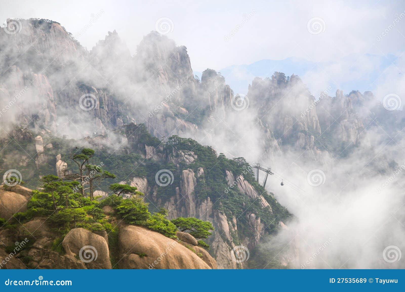 黄色山(黄掸人)是一处非常著名自然风景在中国