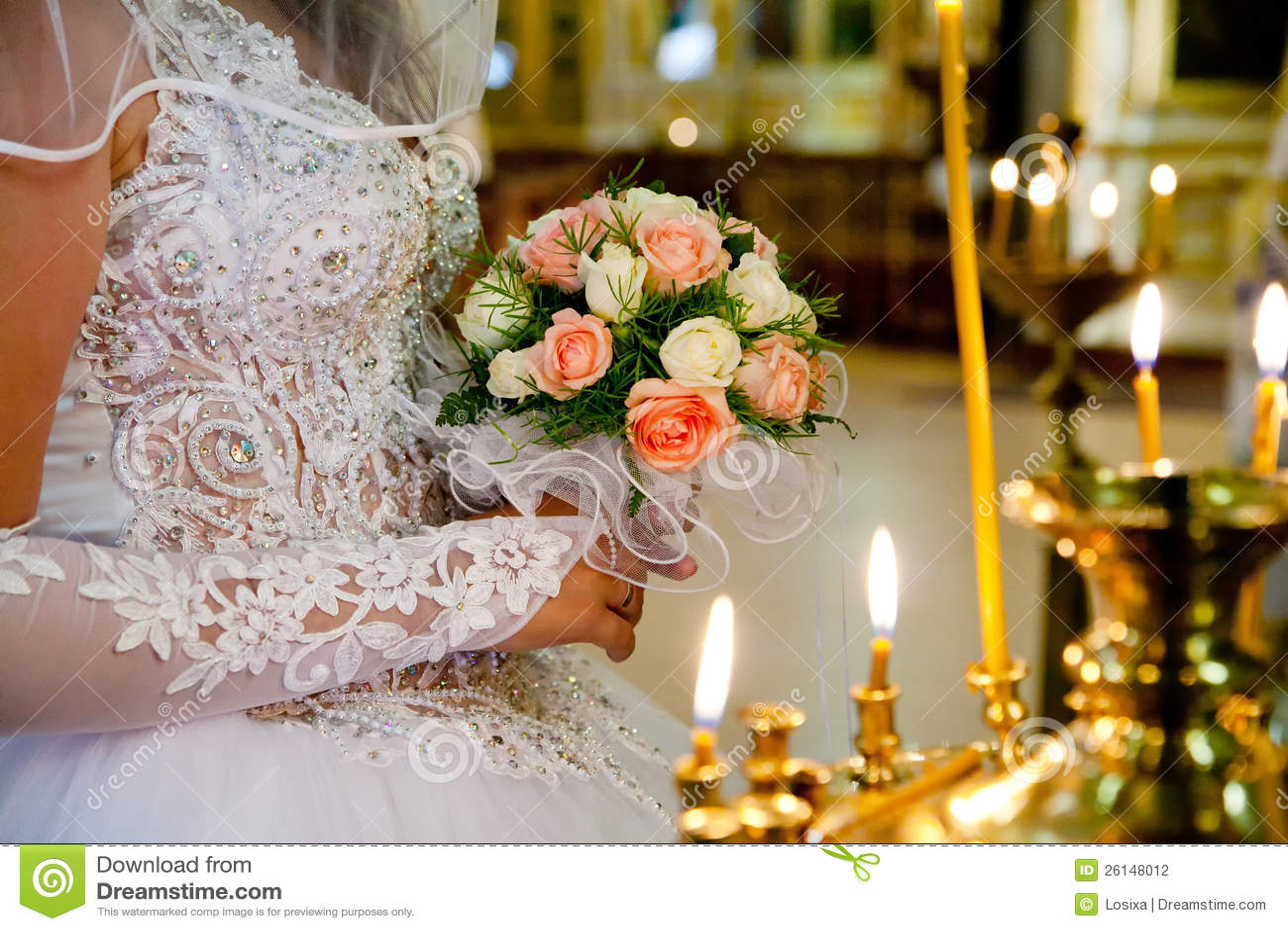 婚礼仪式的新娘 图库摄影图片