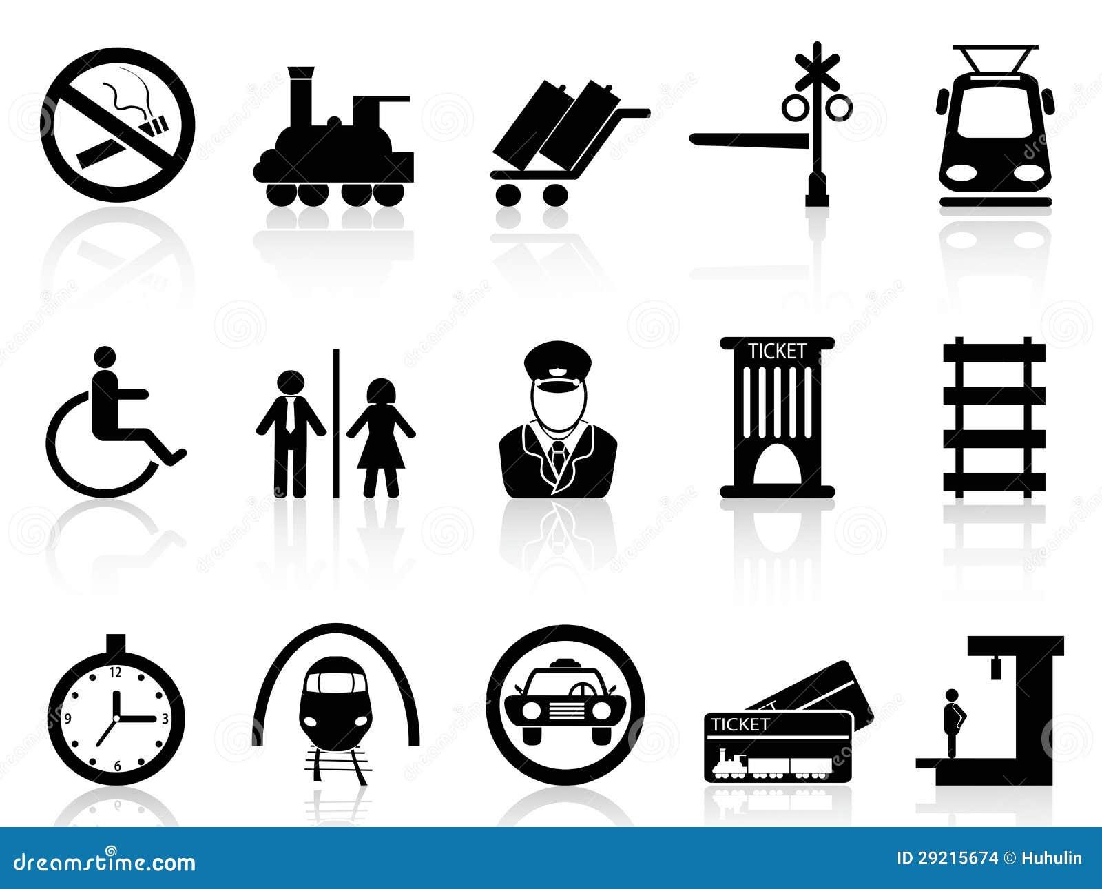 火车站和服务图标 库存图片