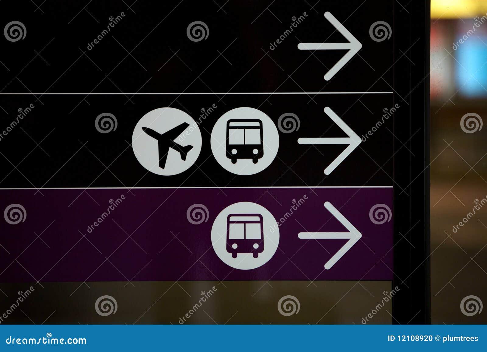 机场公共汽车飞机符号旅行