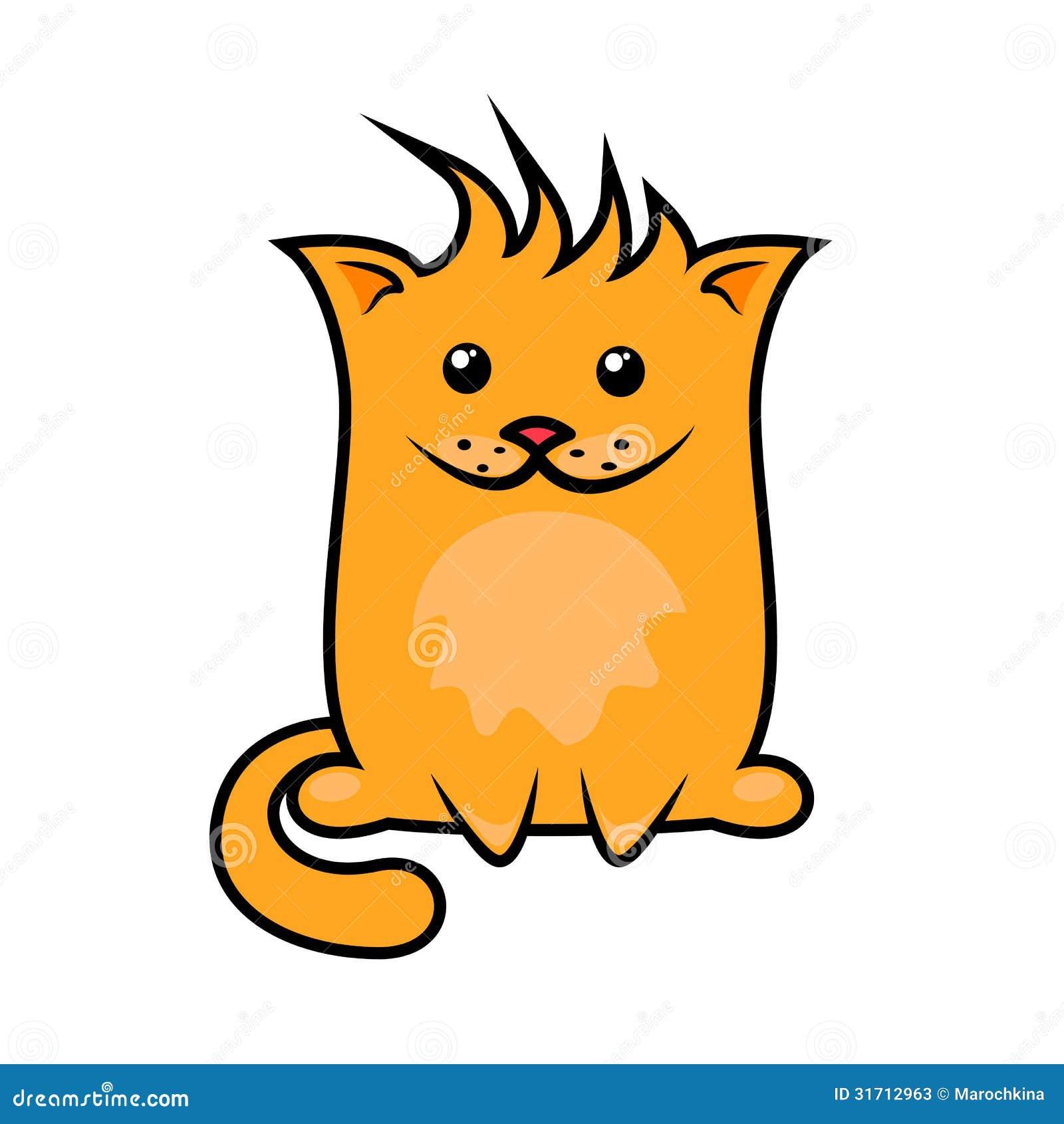 滑稽的动画片猫 库存照片图片