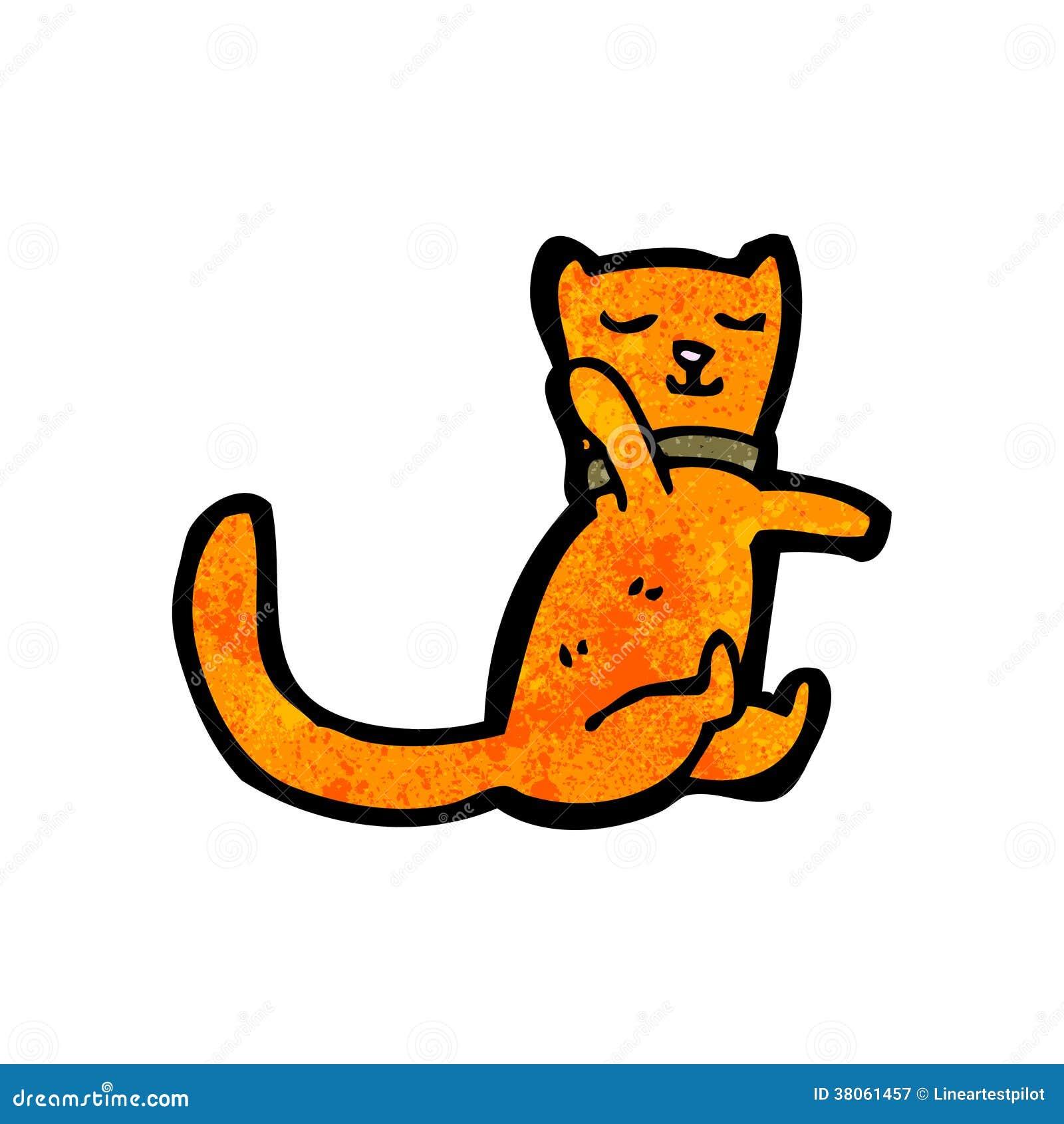 滑稽的动画片猫 免版税图库摄影图片