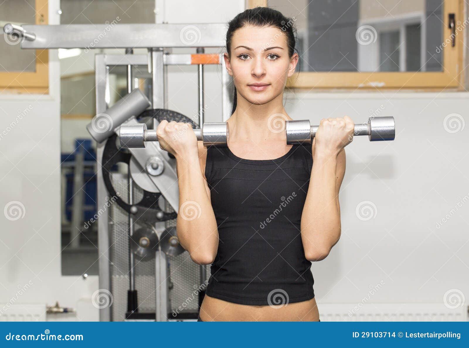 健身房的女孩 库存图片