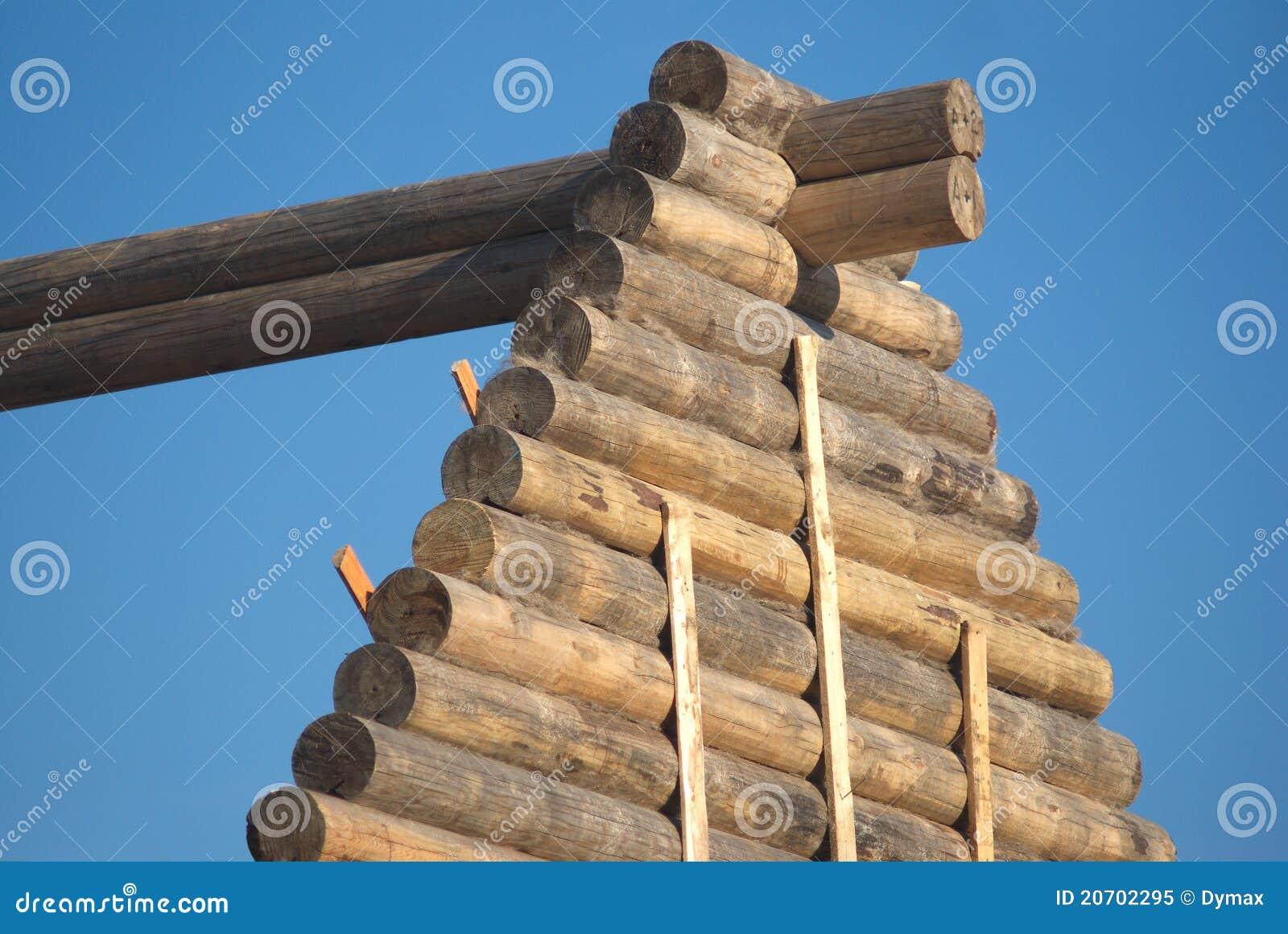 建筑房子木材顶部木 免版税库存照片